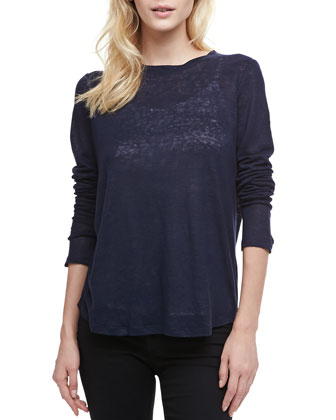 Loose Long-Sleeve Tee, Coastal