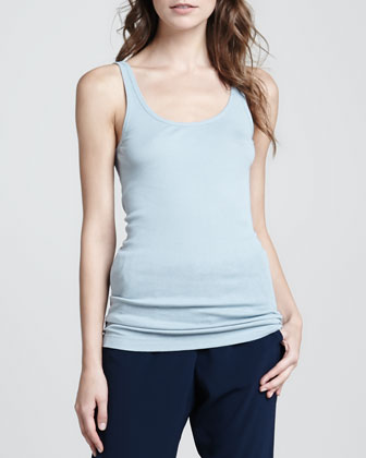 Ribbed Favorite Tank, Robin