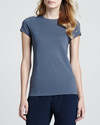 Short-Sleeve Jersey Tee, Hickory Blue