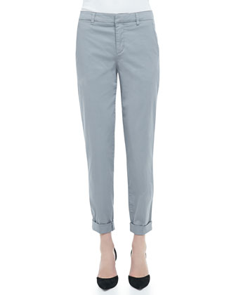 Relaxed Cuffed Boyfriend Trousers