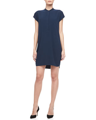 Cap-Sleeve Loose Dress, Coastal