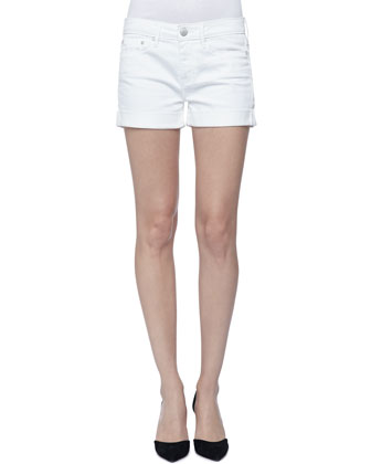 Long-Sleeve Crepe Shirt & Cool Skinny Cuffed Shorts