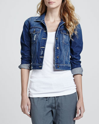 Parker Cropped Denim Jacket