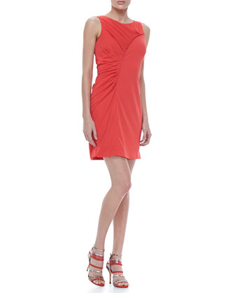 Ruched Fitted Jersey Dress