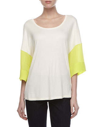 Colorblock Half-Sleeve Tee