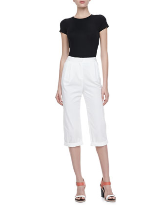 Relaxed-Fit Cropped Pants