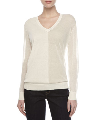 Knit V-Neck Tunic