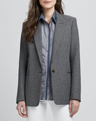 Ganella Patterned Wool Blazer
