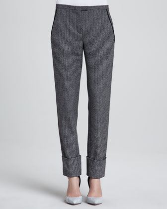 Indra Patterned Wool Pants