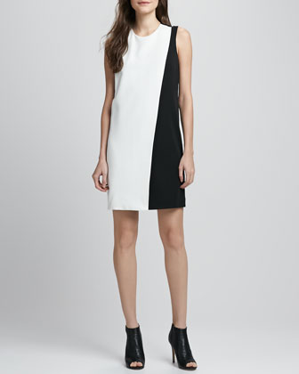 Randla Two-Tone Crepe Dress