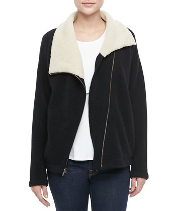 Hex Shearling-Lined Coat