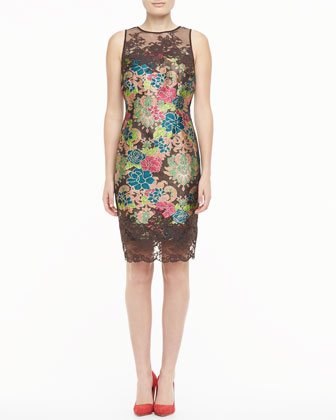 Lace Trim Cocktail Dress