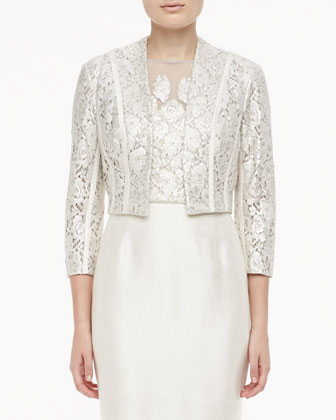 3/4-Sleeve Lace Bolero & Lace Cocktail Dress