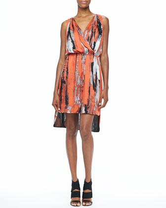 Brushstroke-Print Dress