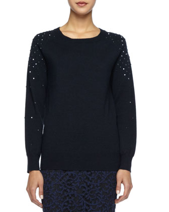 Cleopatra Sequined Wool Sweater