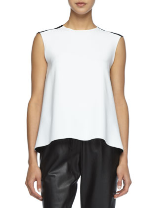Jaala Sleeveless Crepe Top