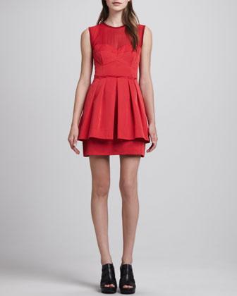 Lightshow Sheer-Top Dress