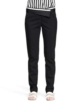 Guy Asymmetric-Waist Pants