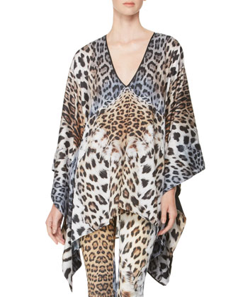 Leopard-Print Caftan & Slightly Flared Pants