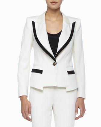 Foster Contrast Crepe Jacket