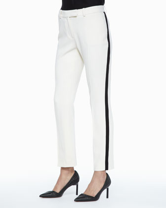 Foster Contrast Crepe Jacket, Kathleen Scoop-Neck Tank & Vienna Side-Stripe ...