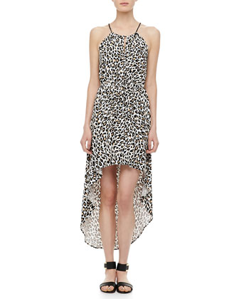 Cheetah-Print Hi-Lo Dress
