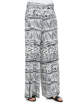 Grady Printed Wide-Leg Pants