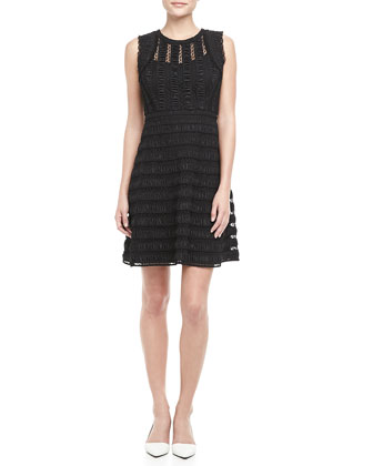 Dolly Sleeveless Lace Overlay Dress