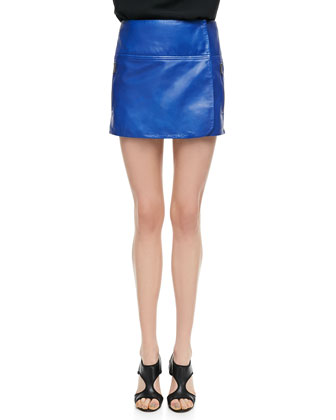 Liam Leather Zip Skirt