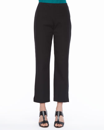 Organic Stretch Twill Slim Ankle Pants, Petite