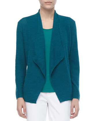 Colorblock Alpaca Cardigan, Women's
