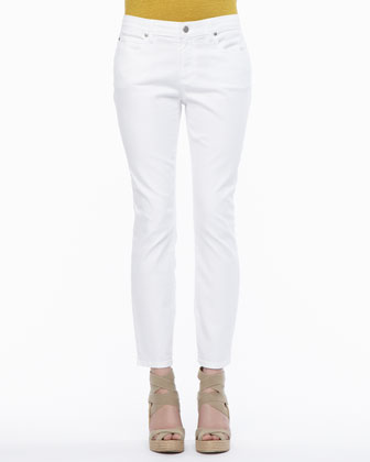Organic-Cotton Stretch Skinny Ankle Jeans, Petite