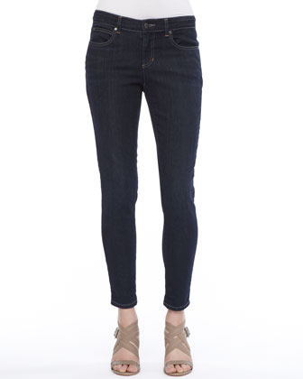 Linen-Stretch Button-Front Shirt, Silk Shibori Ripple Scarf & Soft Stretch ...