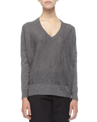 Royal Alpaca Colorblock Knit Top, Petite
