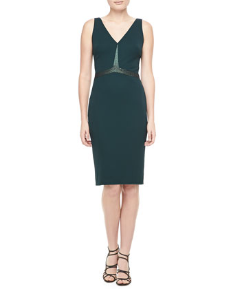 Sleeveless Embellished Cocktail Dress