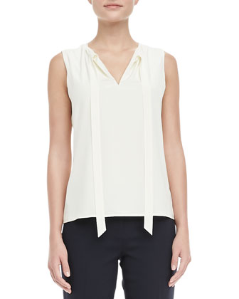 Nicole Jewel-Trim Jacket, Tanya Tie-Neck Top & Tara Cropped Crepe Pants