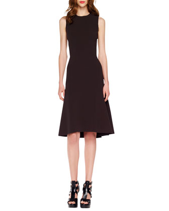 A-Line Crepe Dress, Blackberry