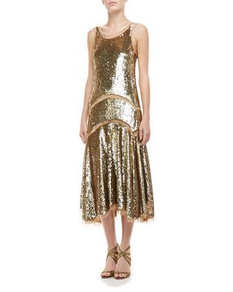 Paillette Tank Dress
