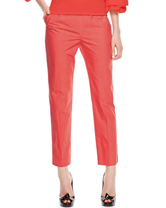 Cotton Trouser Pants, Hibiscus