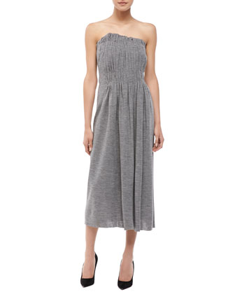 Gathered Strapless Knit Dress