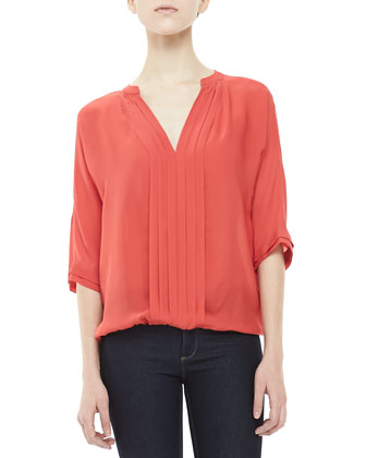 Marru Pleat-Front Blouse