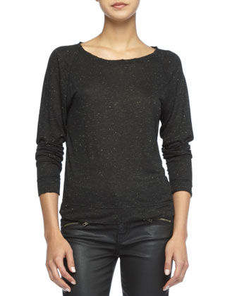 The Letterman Speckled Sweater