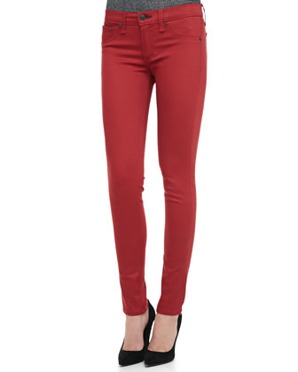 The Legging Jeans, Red Sateen