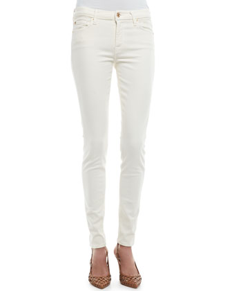Brushed Satin Skinny Pants