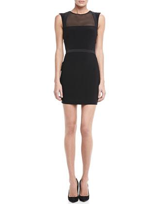 Levinson Sheer-Panel Dress