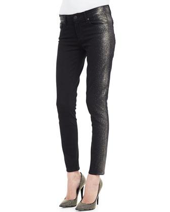 Verdugo Shimmer-Side Slim Jeans