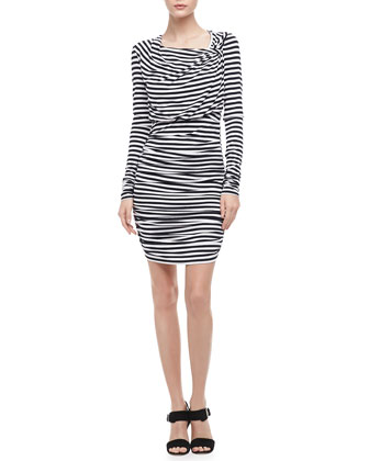 Lori Ruched Striped Dress