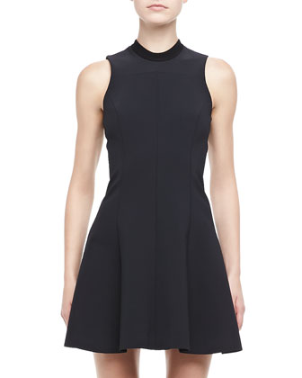 Fassica Sleeveless Crepe Dress