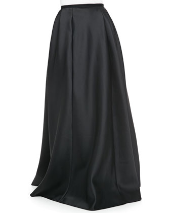 Satin Ball Skirt, Black