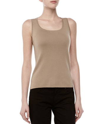Cashmere Sleeveless Shell, Fawn